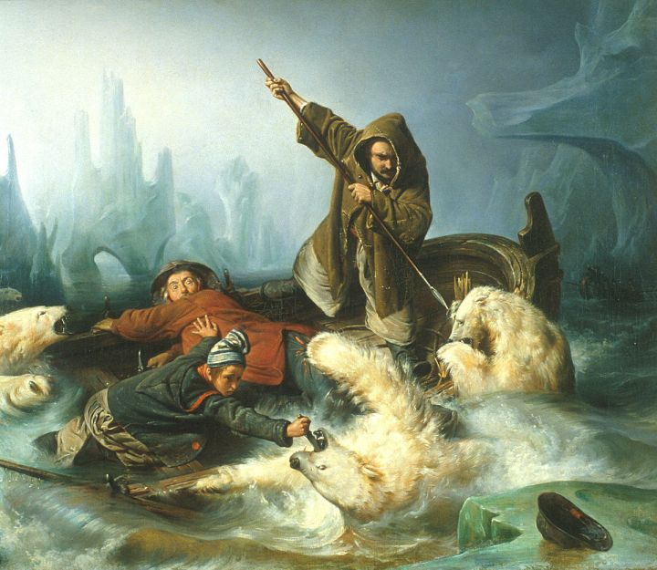 Francois_Auguste_Biard_-_Fight_with_Polar_Bears