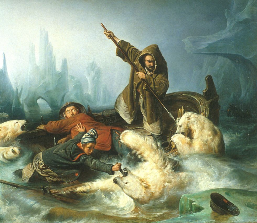 Francois_Auguste_Biard_-_Fight_with_Polar_Bears