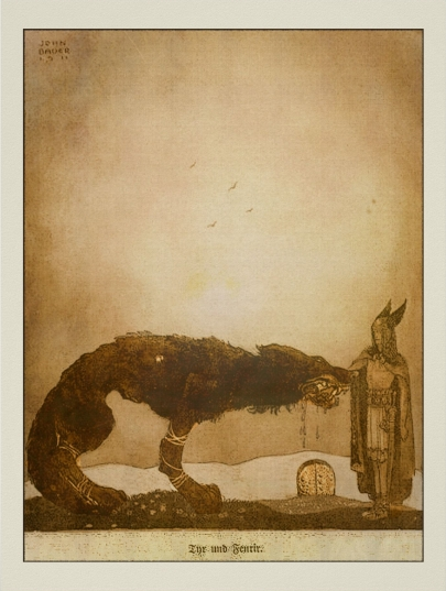 John_Bauer Tyr and Fenrir