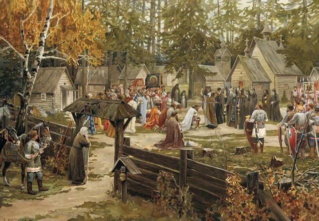 Viktor-Vasnetsov-Blessing-of-Dmitri-Donskoi-Before-Kulikovo-by-Lissner