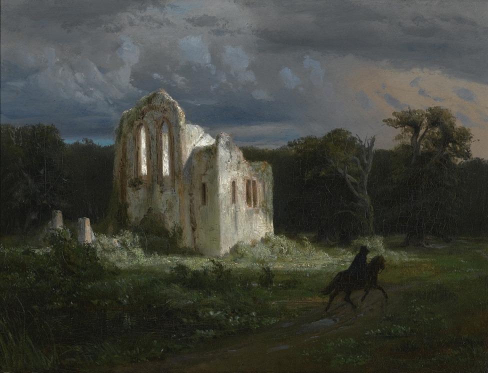 Arnold Böcklin (Swiss, 1827-1901) - Moonlit Landscape, 1849