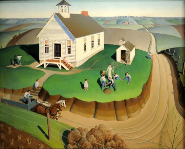 Grant Wood, Arbor Day, 1932