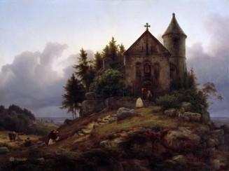 Karl Friedrich Lessing (1808 – 1880) Die Waldkapelle