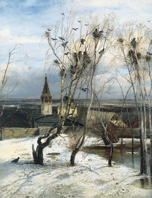 Rooks are back again by Alexei Kondratyevich Savrasov