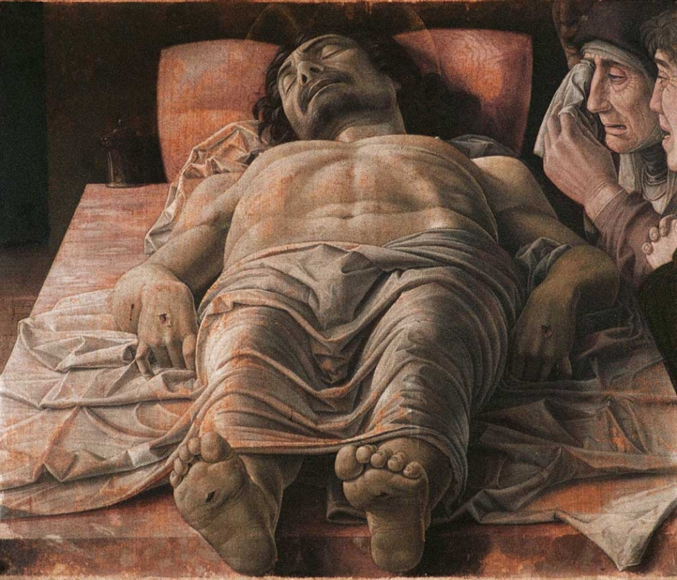 Paintings Of Dead People Great Works The Dead Christ,andrea Mantegna C.1480 | The
