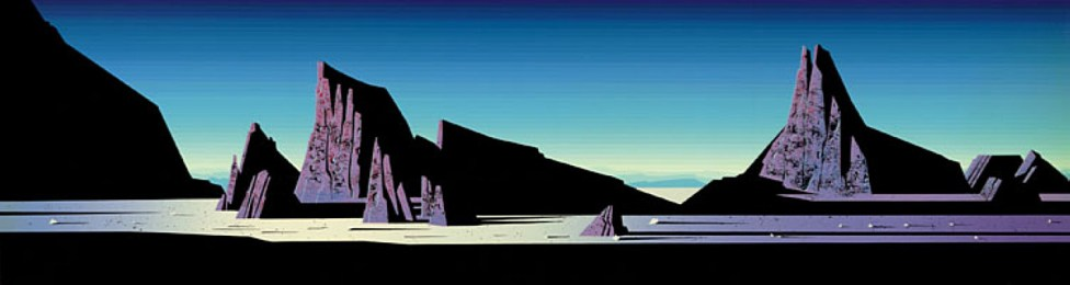 eyvind-earle Desert-Rocks-1991 Eyvind Earle