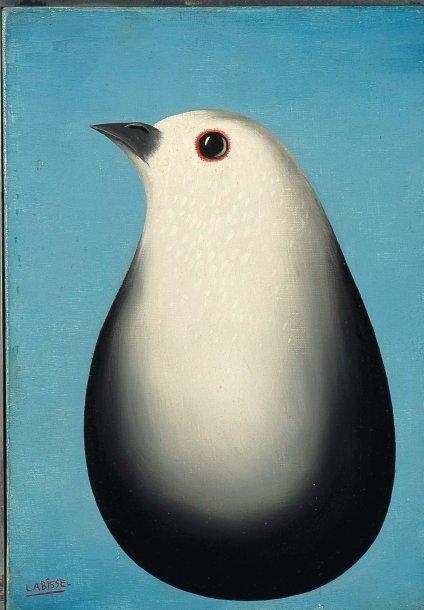 FELIX-LABISSE-(1905-1982)-PIGEON-HUILE-SUR-TOILE-SIGNEE-EN-BAS-A-GAUCHE-H_27-CM-L_19&HELLIP-