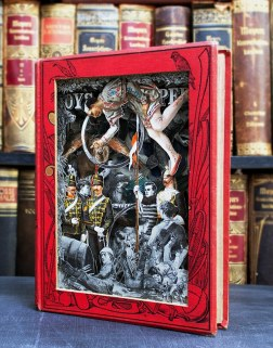 ***EXCLUSIVE*** BRISTOL, UNITED KINGDOM - UNDATED: A 3D book sculpture created from an original Boys Own Annual 1891 in Bristol, England. FROM Boy's Own adventure books to a History of the 19th Century this artist has turned old books into an art form. Surreal images of tin-pot soldiers from the past standing to attention next to giant pink flamingos shows that images from the past can be combined through carefully cutting up historical books. Bristol-based artist, Alexander Korzer-Robinson decided to use antiquarian books in this way to deconstruct our ideas of the past. PHOTOGRAPH BY Alexander Korzer-Robinson / Barcroft Media UK Office, London. T +44 845 370 2233 W www.barcroftmedia.com USA Office, New York City. T +1 212 796 2458 W www.barcroftusa.com Indian Office, Delhi. T +91 11 4053 2429 W www.barcroftindia.com