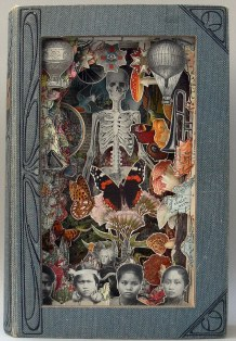 ***EXCLUSIVE*** BRISTOL, UNITED KINGDOM - UNDATED: A 3D book sculpture created from a book called Santa Muerte in Bristol, England. FROM Boy's Own adventure books to a History of the 19th Century this artist has turned old books into an art form. Surreal images of tin-pot soldiers from the past standing to attention next to giant pink flamingos shows that images from the past can be combined through carefully cutting up historical books. Bristol-based artist, Alexander Korzer-Robinson decided to use antiquarian books in this way to deconstruct our ideas of the past. PHOTOGRAPH BY Alexander Korzer-Robinson / Barcroft Media UK Office, London. T +44 845 370 2233 W www.barcroftmedia.com USA Office, New York City. T +1 212 796 2458 W www.barcroftusa.com Indian Office, Delhi. T +91 11 4053 2429 W www.barcroftindia.com
