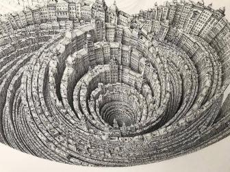 Ben Sack 05-Historical-Infinities-Super-Detailed-Architectural-Drawings-with-Video-www-designstack-co