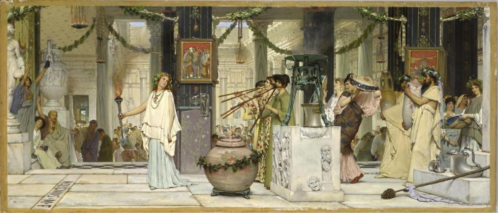 Sir Lawrence Alma-Tadema the-vintage-festival-1870