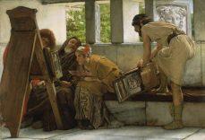 Sir Lawrence_Alma-Tadema_-_A_Roman_studio-1024x702