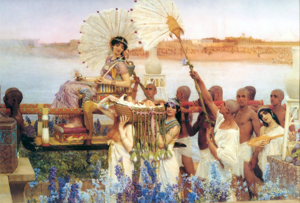 Sir Lawrence_Alma-Tadema_-_The_Finding_of_Moses (1904)