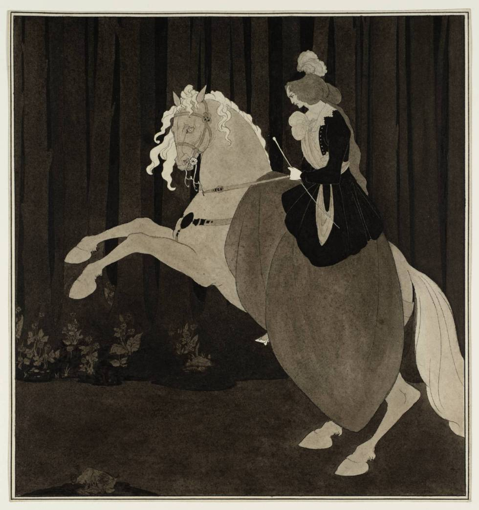 Frontispiece to Chopin's Third Ballade 1895 by Aubrey Beardsley 1872-1898