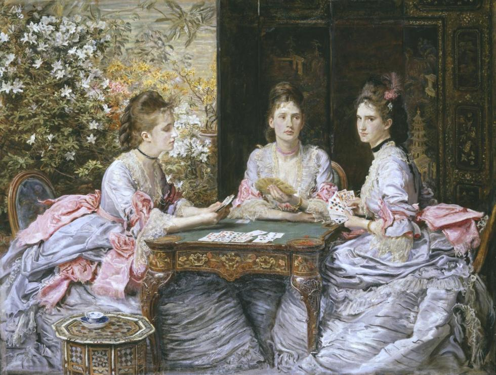 Hearts are Trumps 1872 by Sir John Everett Millais, Bt 1829-1896