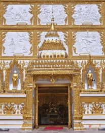 Wat Nong Bua Door of Main Stupa, Ubon Ratchathani, Thailand