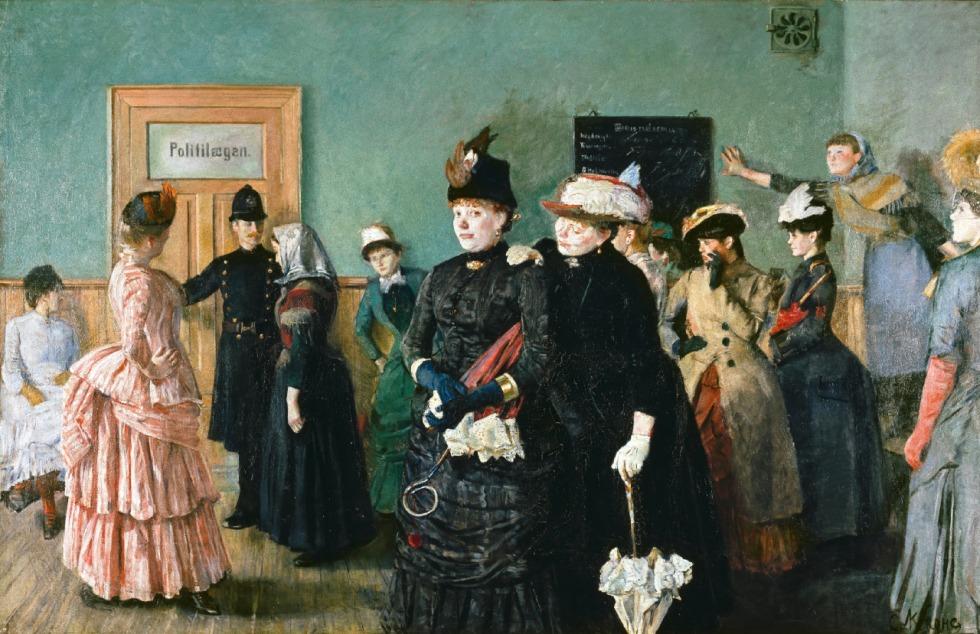 christian krohg (norwegian, 1852-1925) albertine to see the police surgeon