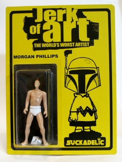 "sucklord morgan phillips ""jerk of art the world_s worst artist"" bootleg resin action figure by the sucklord"
