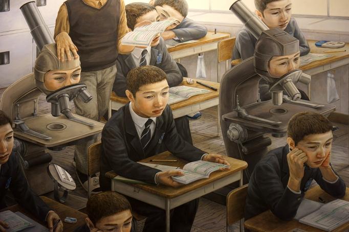 Recalled: (Detail) Painting by Tetsuya Ishida