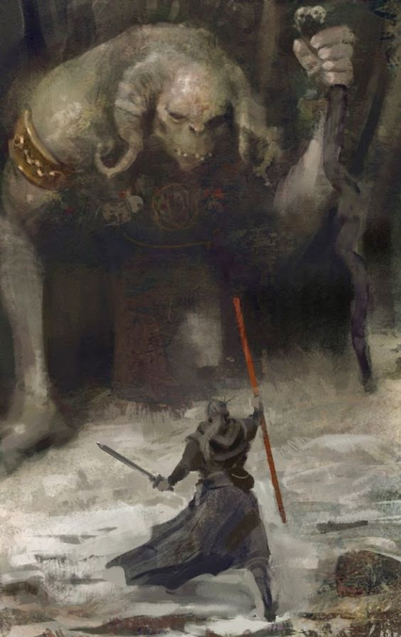 Battle against the Arch Troll - Symbaroum