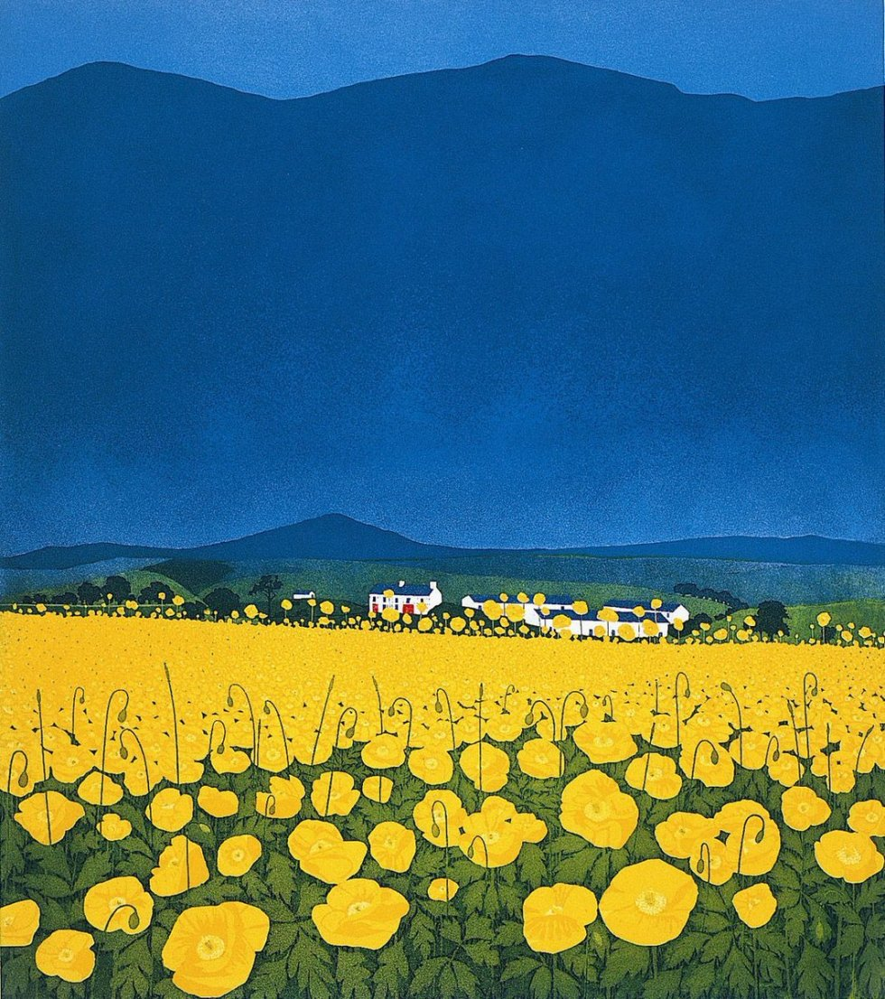 Phil Greenwood (Wales, b 1943) Buttercup Ridge