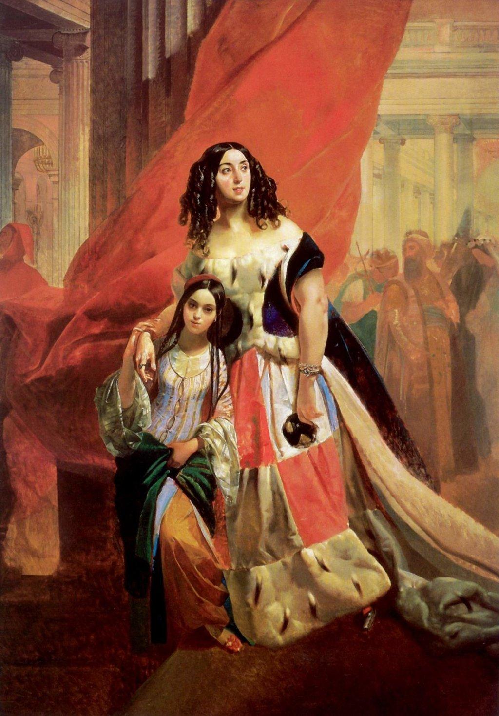 Portrait of Countess Yu. P. Samoilova and Her Ward in formal attire