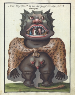 L0076370 A compendium about demons and magic. MS 1766. Credit: Wellcome Library, London. Wellcome Images images@wellcome.ac.uk http://wellcomeimages.org Compendium rarissimum totius Artis Magicae sistematisatae per celeberrimos Artis hujus Magistros. Anno 1057. Noli me tangere. Watercolour c. 1775 Published: - Copyrighted work available under Creative Commons Attribution only licence CC BY 4.0 http://creativecommons.org/licenses/by/4.0/