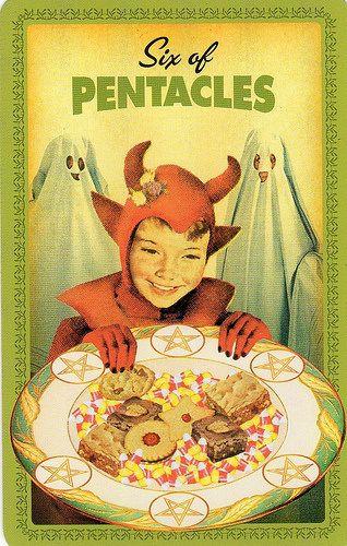 Housewives Tarot Six of Pentacles
