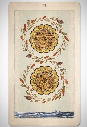 Pagan Otherworlds deck Two of Pentacles