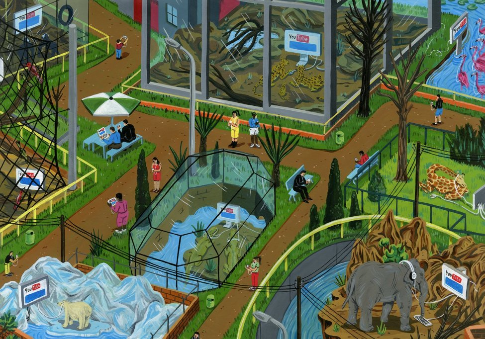 Brecht-Vandenbroucke-Zoo-Day-the-Earth-Stood-Still-acrylique-sur-papier-594-x-42-©brechtvandenbroucke
