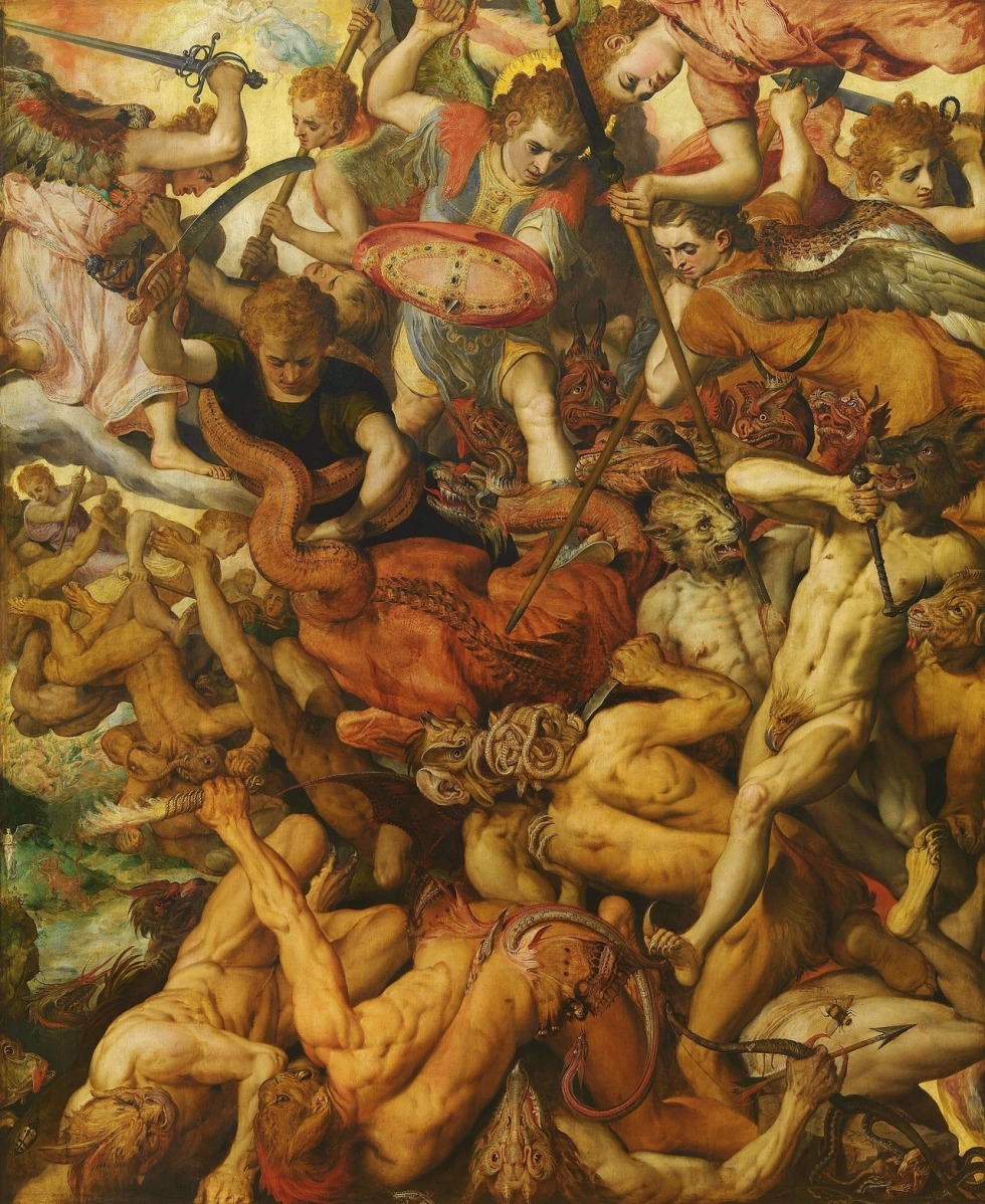 Fall of the Rebel Angels (1554) by Frans Floris (Flemish, 1519-1570)
