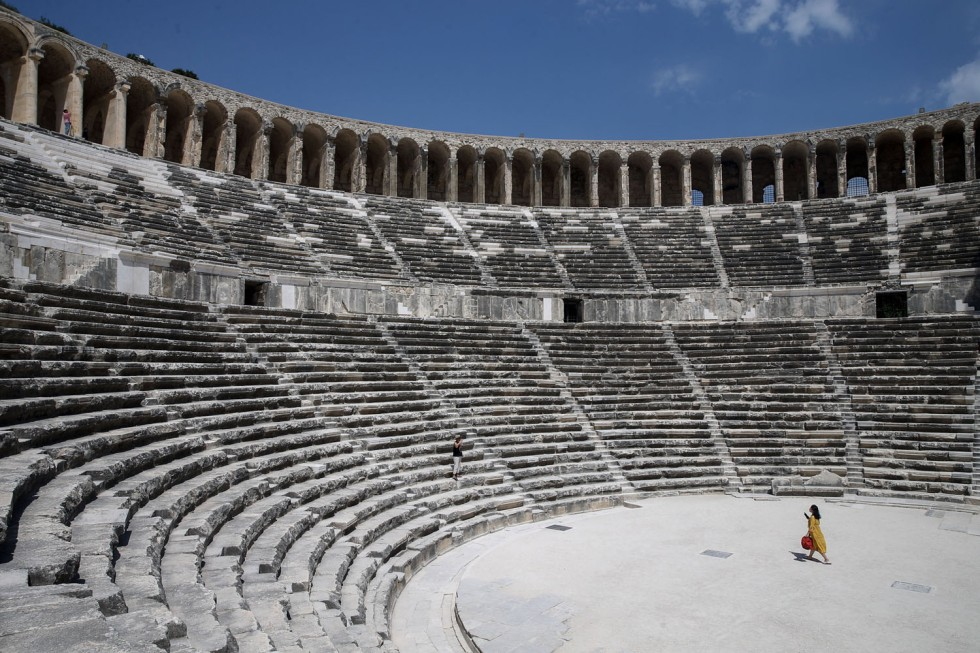 Aspendos Antique Theatre in Turkey's Antalya