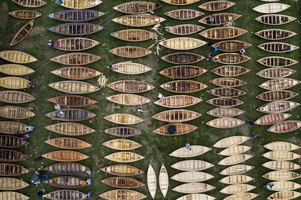 Boat market in Bangladesh