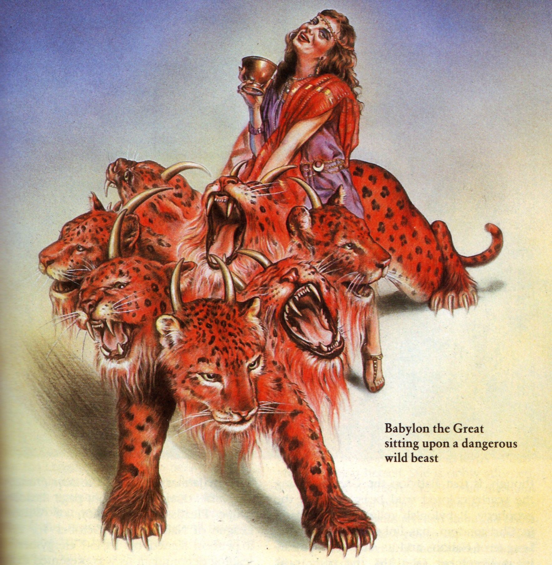 babylon the Great on her many-headed beast