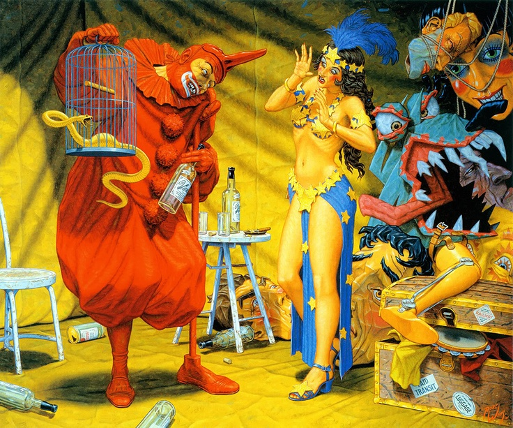 In the Pavilion of the Red Clown by Robert Williams