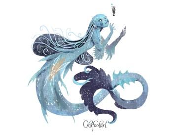 ddaddy star olafool-art-mermaid