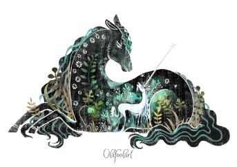 ddaddy star olafool-art-unicorn