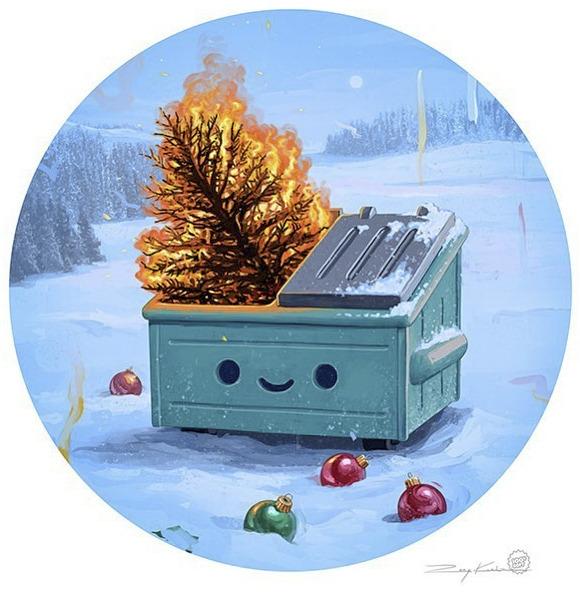 Rory Kurtz Christmas dumpster fire
