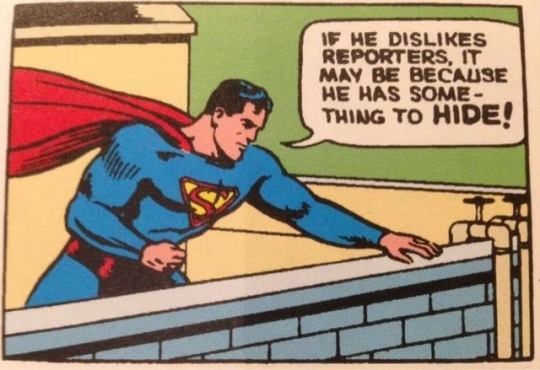 Superman comic panel