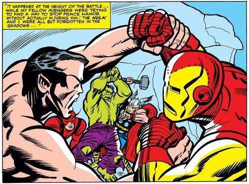 Avengers vs. Hulk & Submariner by Jack Kirby