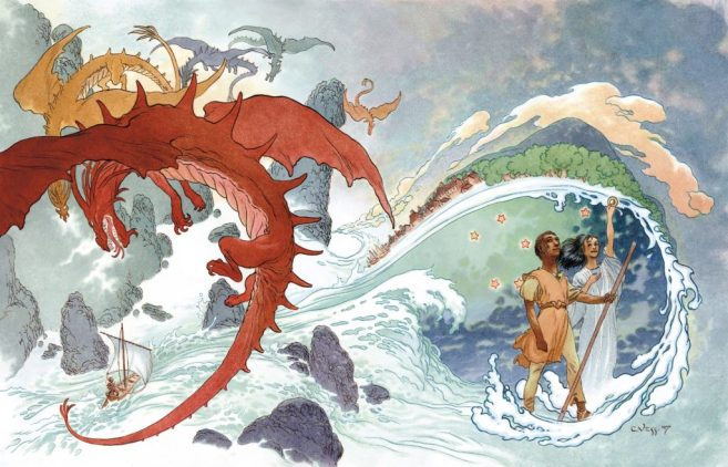 Charles Vess Here-There-Be-Dragons-CharlesVess-1024x659