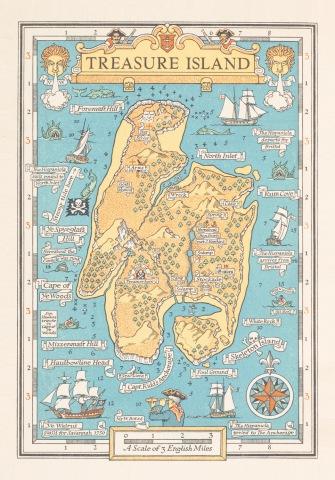 Treasure Island, by Robert Louis Stevenson