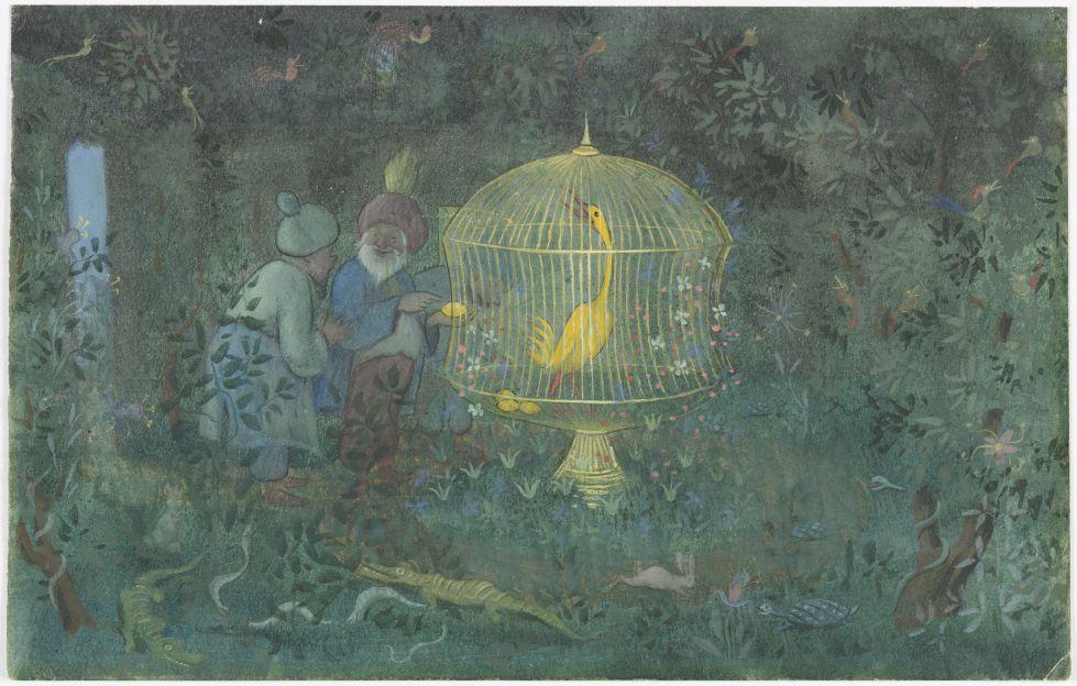 Ivar Arosenius, The Golden Bird of the Caliph, 1908