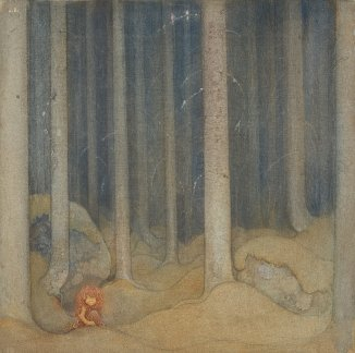 John Bauer Humpe_in_the_woods_by_John_Bauer_1913