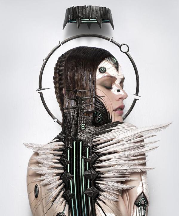 Transhuman Angel by Alexander Fedosov